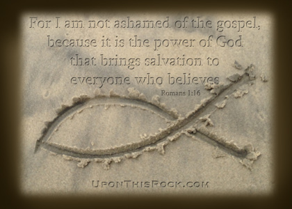 Christian graphic I am not ashamed of the gospel