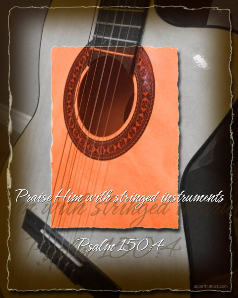 Praise Him with Guitar Christian Graphic