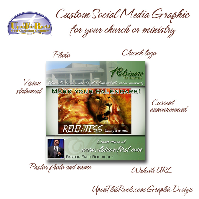 custom social media graphic for your church or ministry