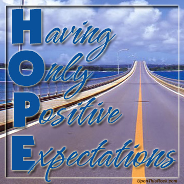 HOPE christian graphic
