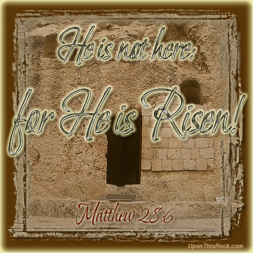 He is Risen Easter Graphic