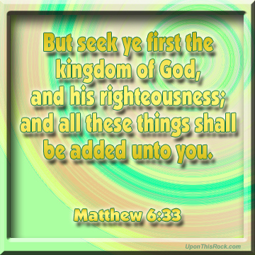 matthew 6:33 christian graphic for facebook